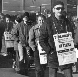 In the 1975 Washington Post pressmen's strike, management helped inaugurate a new era of union-busting labor relations.