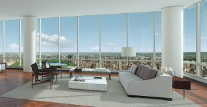 In the floor-to-ceiling windowed apartments of Manhattan's newest ultra luxury apartments, the super rich who dawdle within can enjoy panoramic views in every direction and even look down upon the city's most iconic skyscrapers.