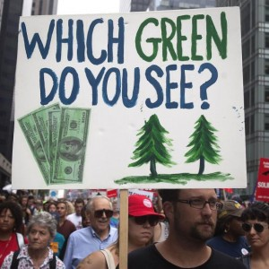 A scene from the 400,000-strong People's Climate March earlier this month in New York.